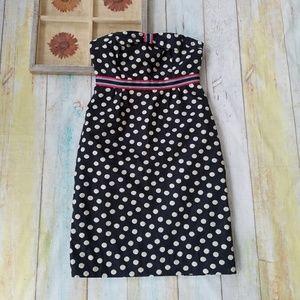 Anthro Maeve Peppered Polka Dot Strapless Dress 6
